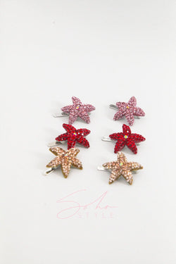 SUMMER STARFISH MAGNETIC BARRETTE SET Sets Soho Style