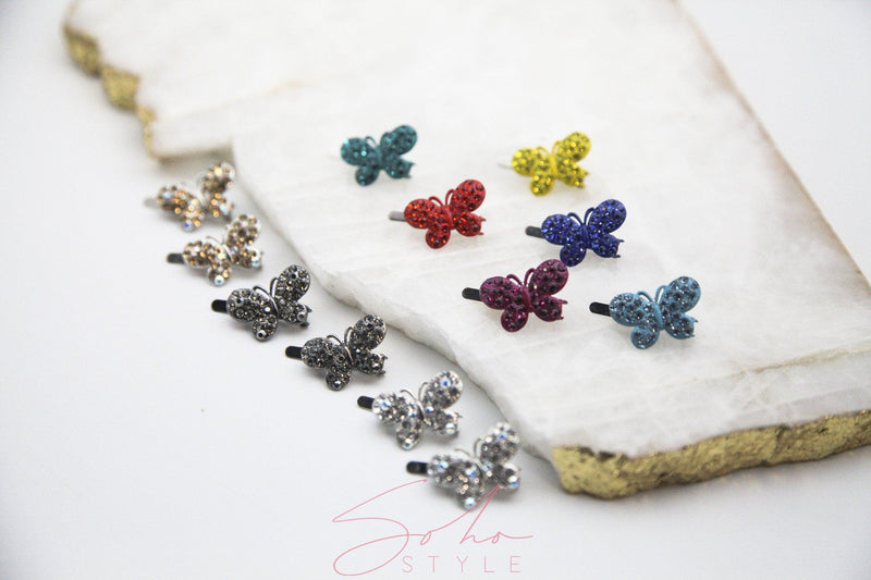 Butterfly Magnet Barrette 12PCS Set Sets Soho Style