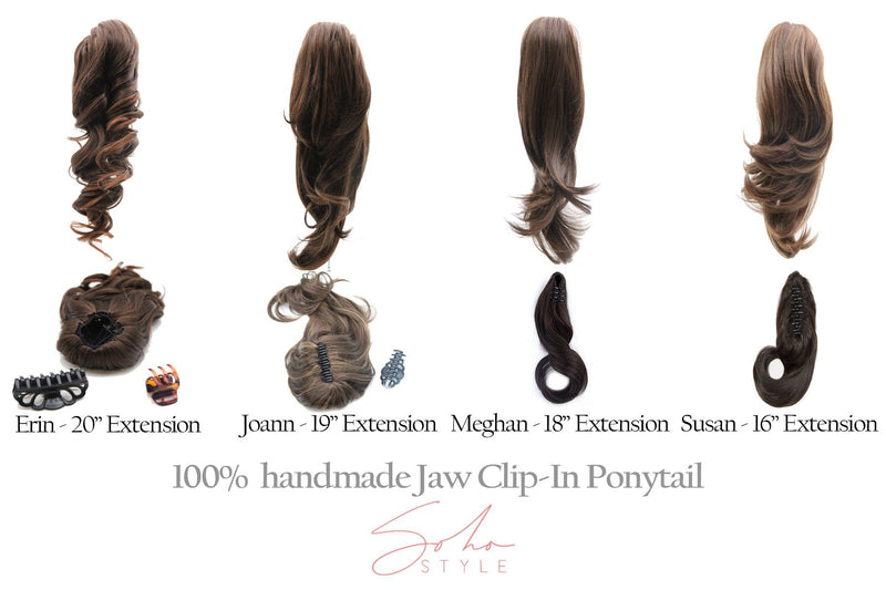"Joan - 19"" Futura Jaw Clip-In Ponytail Extension Hair Extension Soho Style"
