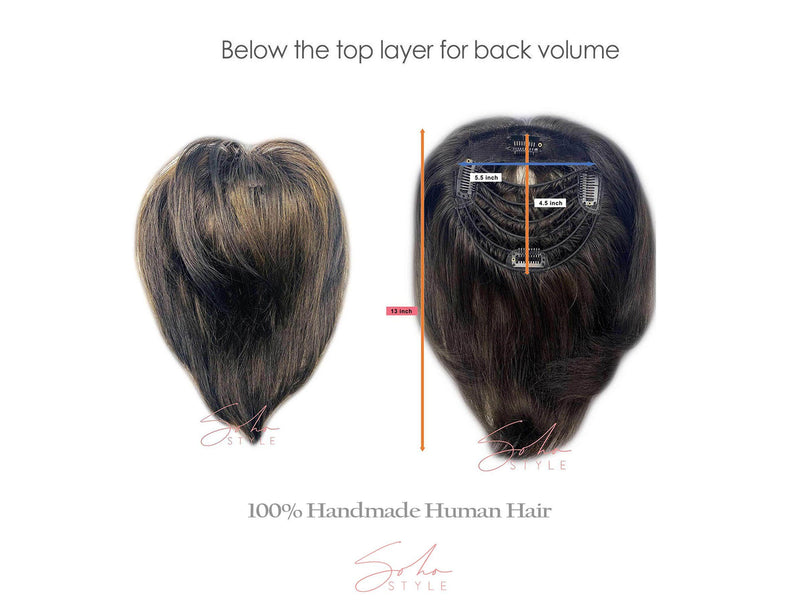 Lucy -13��������� Human Hair Volume Topper Extension H