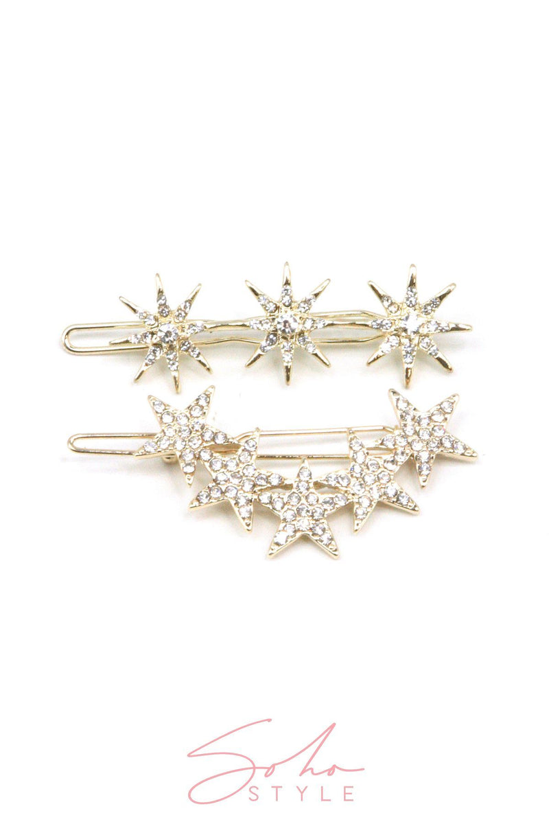 Cosmic Rays Crystal Barrette & Hair Accessorie Soho Style