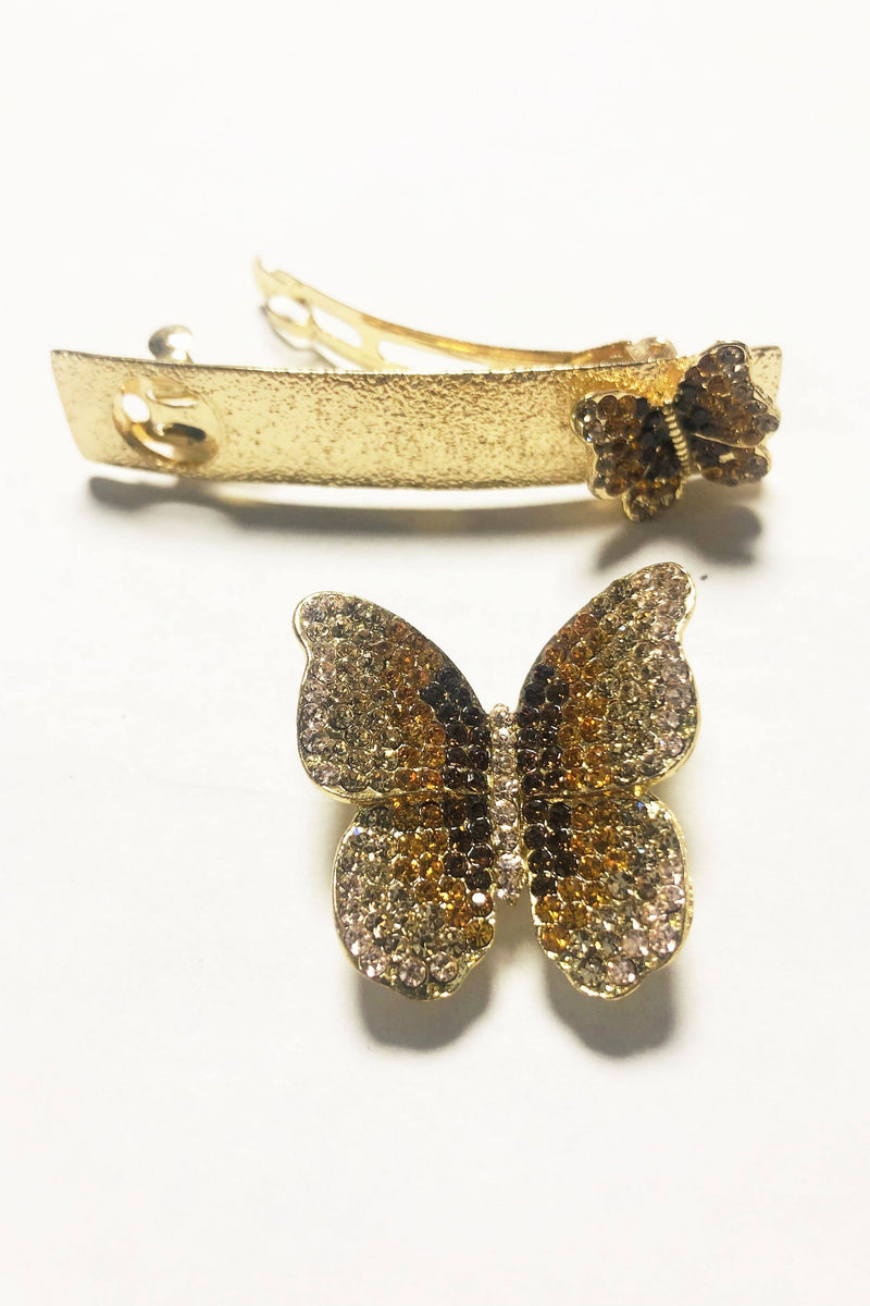 Magnetized Butterfly Barrette Set Barrette Soho Style