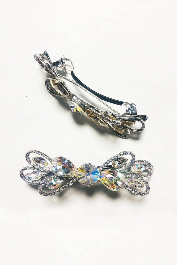 Crystalized Bow Barrette Barrette Soho Style