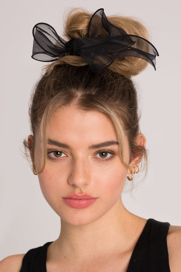Chiffon Wire-Bow Ponytail Holder Ponytail Holder 2019