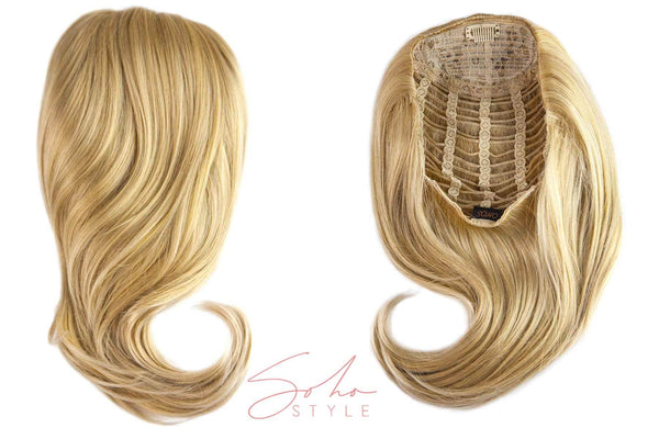 "Sue - 15"" Synthetic Hair Volume Topper Extension Hair Extension Soho Style"