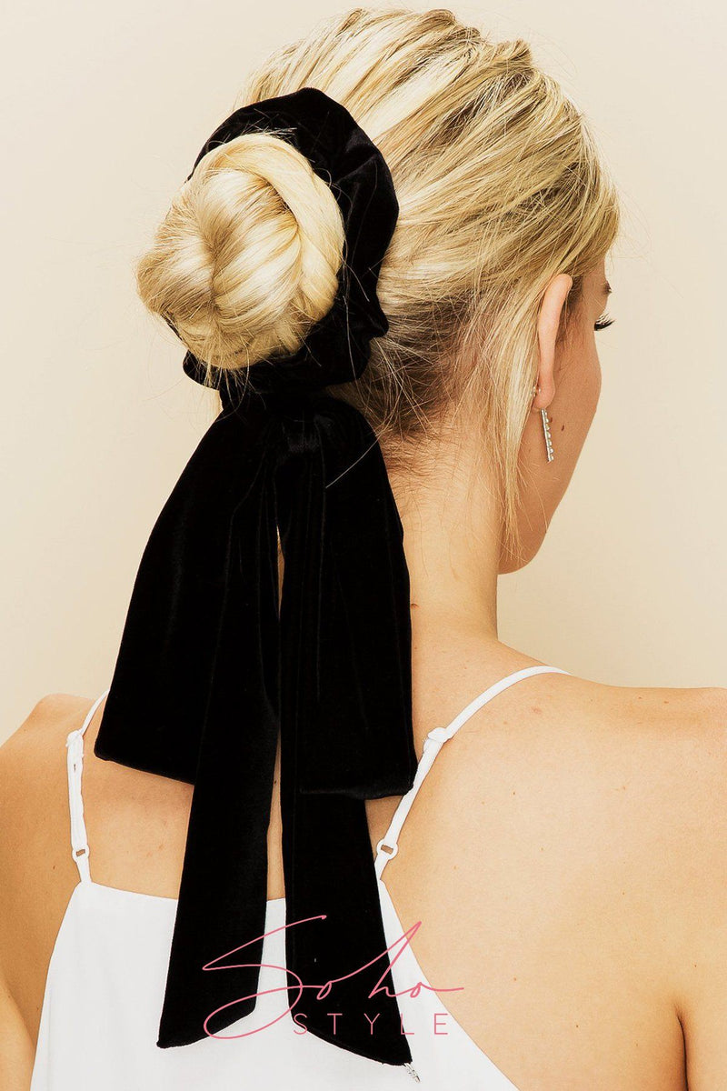 EXTRA LONG VELVET RIBBON SCRUNCHIE Ponytail Holder 2020
