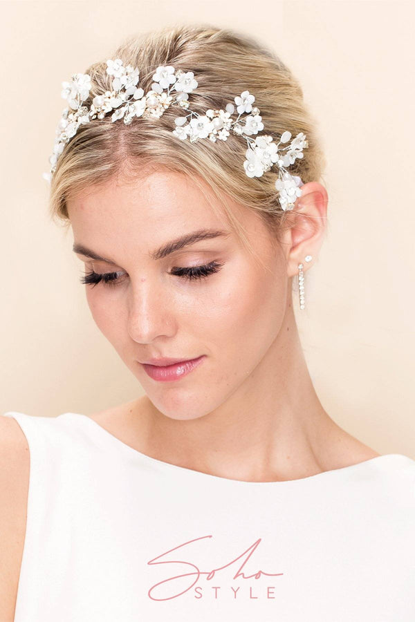 CARINA DAISY HAIR CROWN Wedding Sale