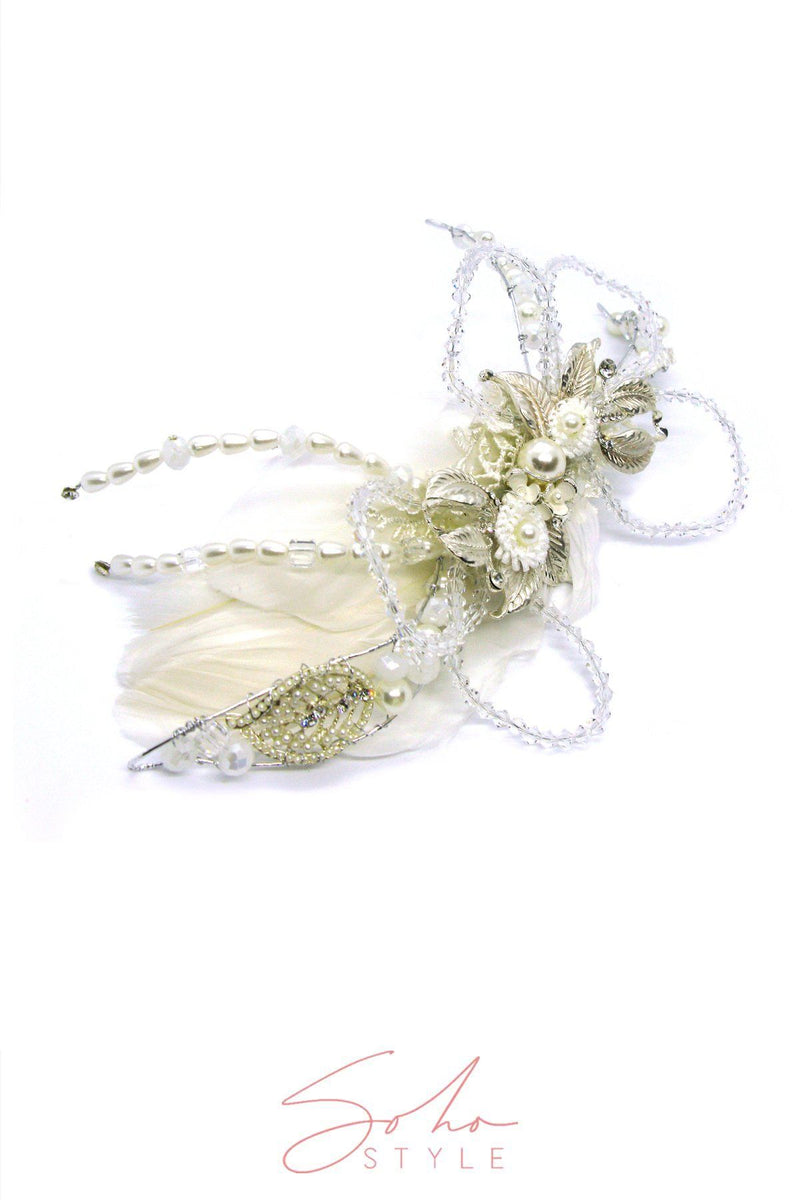 ARIEL FEATHER HAIR CLIP Wedding Sale