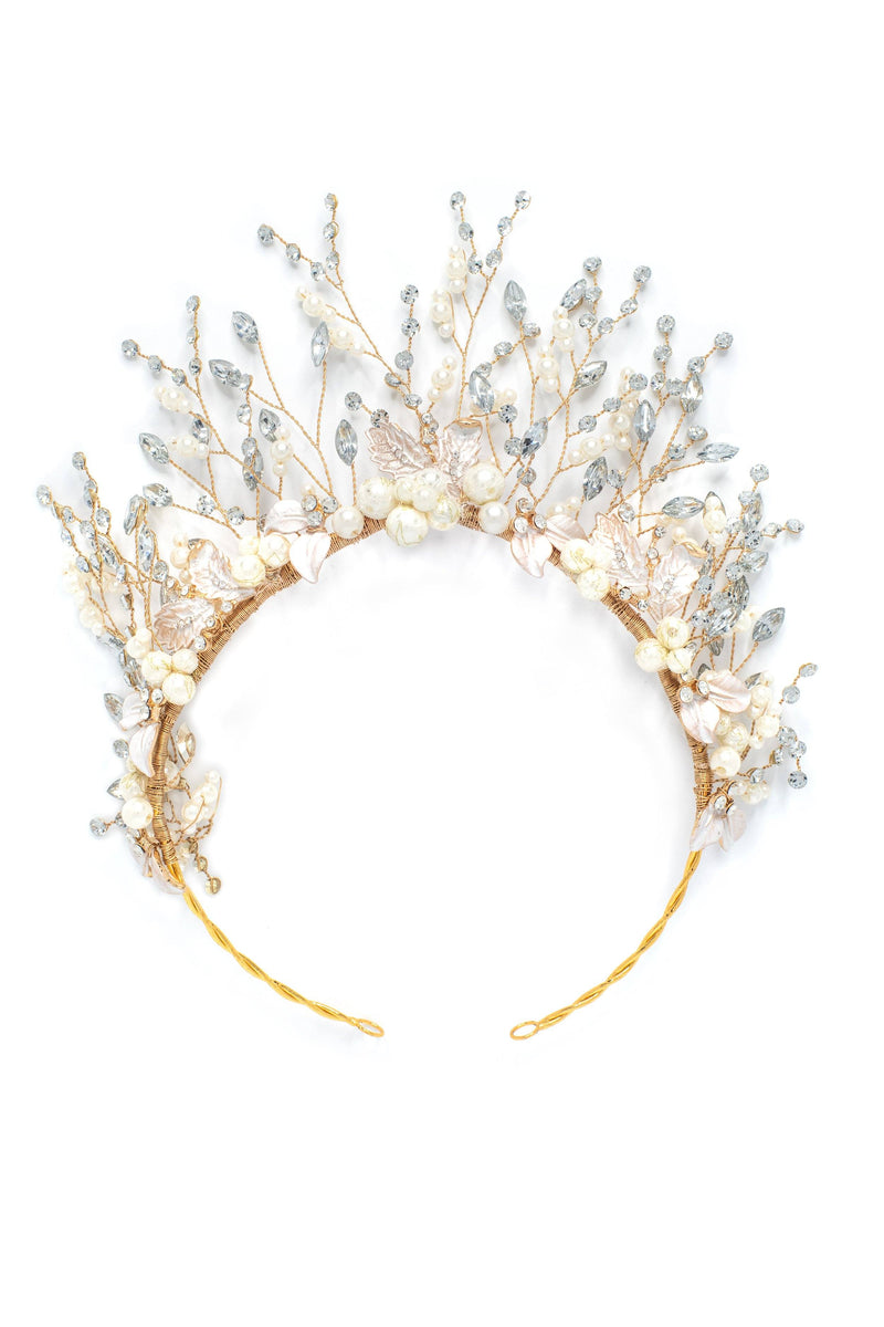 Kaya Crystal Marquise Crown Headband