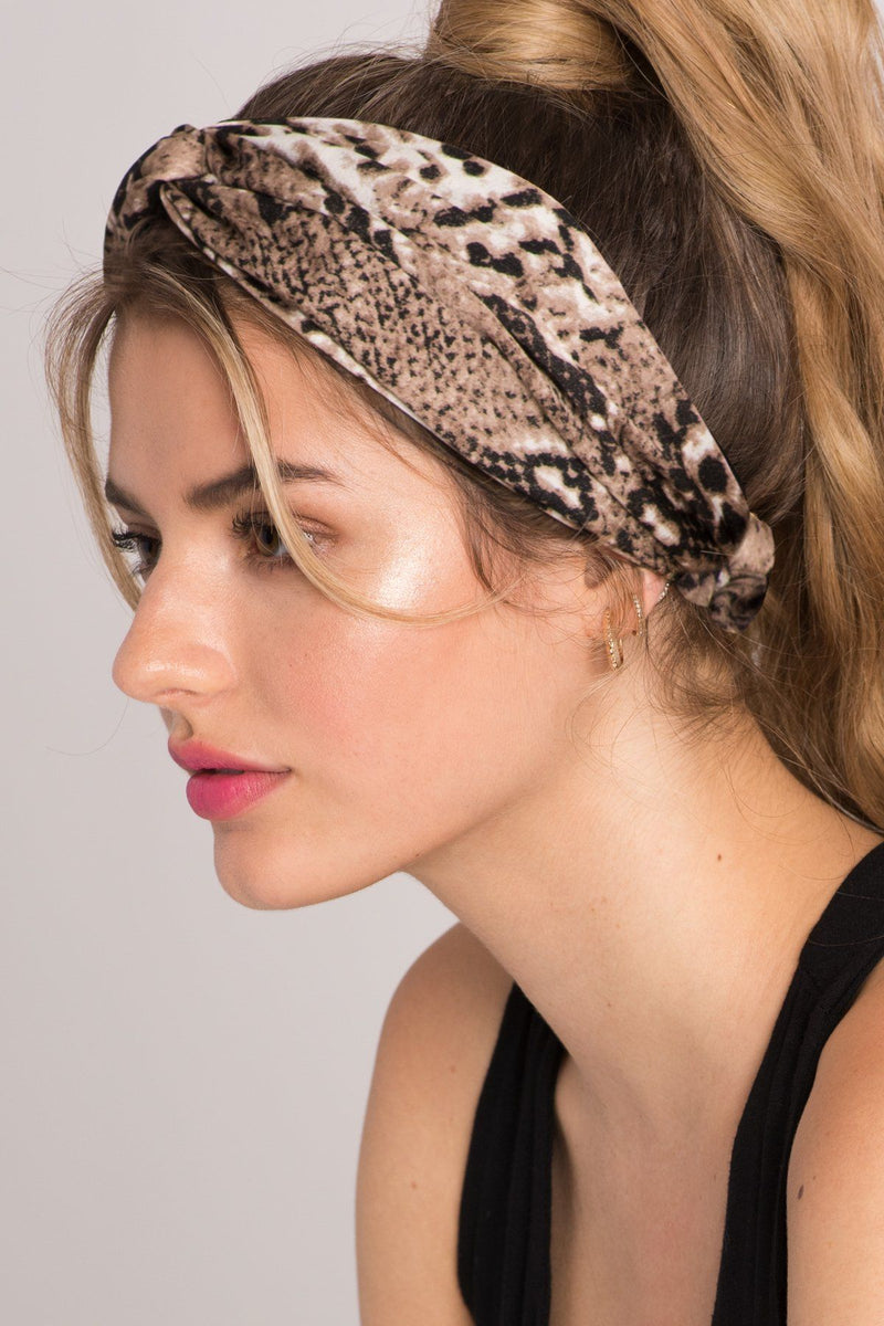 Wild About You Animal Snake-Skin Headband - Soho Style