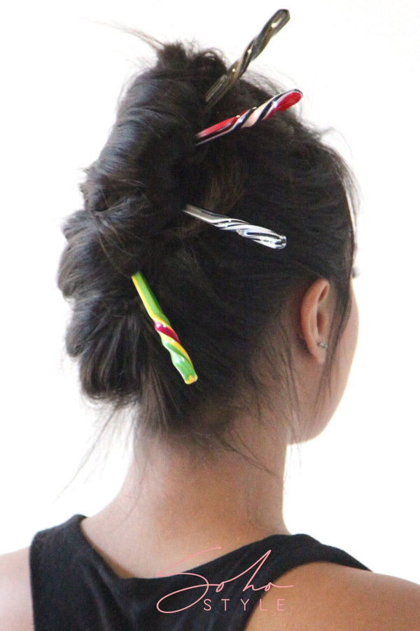 Marble pattern hair stick Hair Accessorie ACUS51