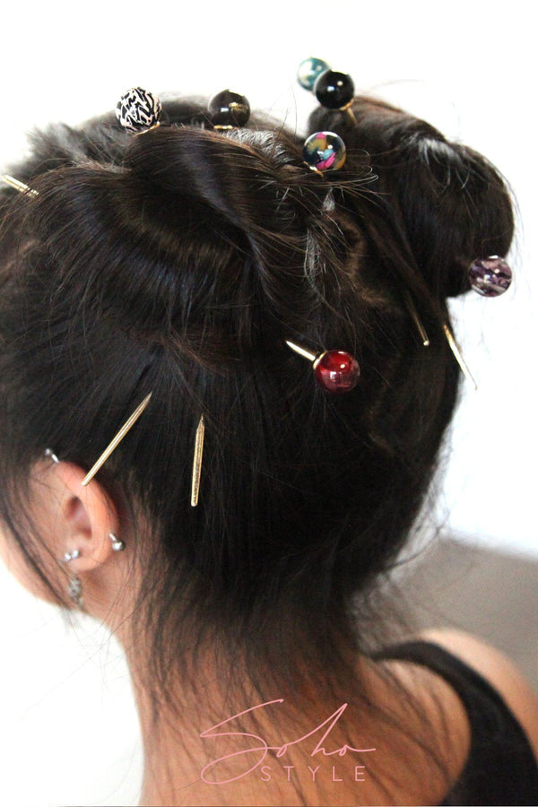 Geometric marble hair stick Hair Accessorie ACUS52