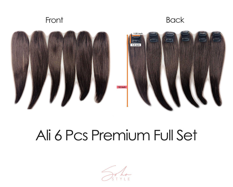 "Two Tone Root Ali 12"" Clip-In Remy Human Hair Light Volume Extension Set Hair Extension Soho Style"