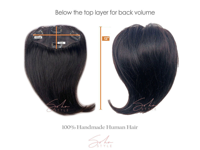 "Special Value Set - Angela 12"" Human Hair Volume Topper Extension + Human Ali set Hair Extension Sale"