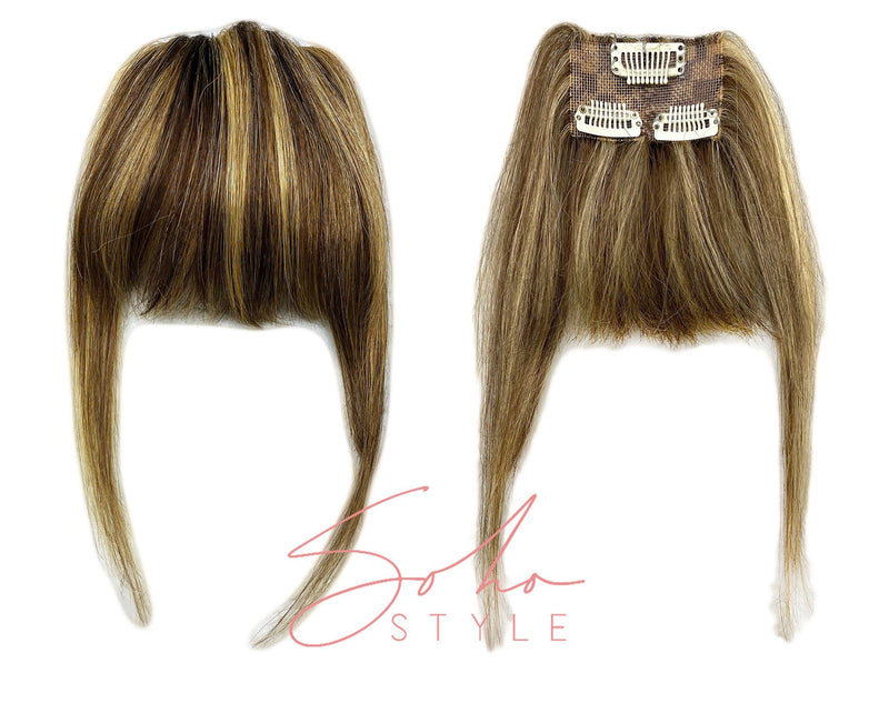 New Human Hair Clip-In Bang Extension Hair Extension Soho Style