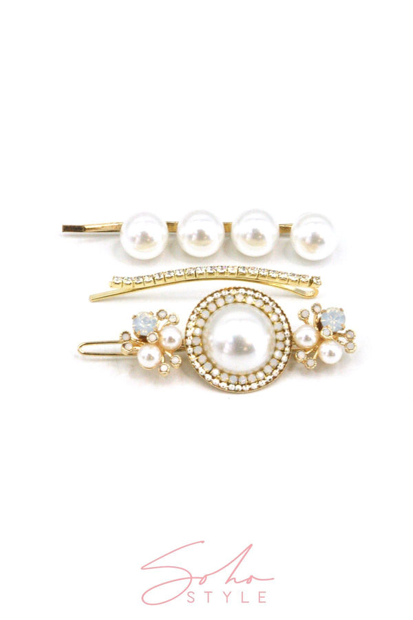 Black Friday - Crystals Bobby Pin Duo & Luxe Statement Special