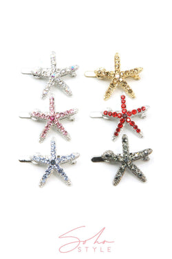 Sea Star Magnetic Barrette Hair Accessorie Soho Style