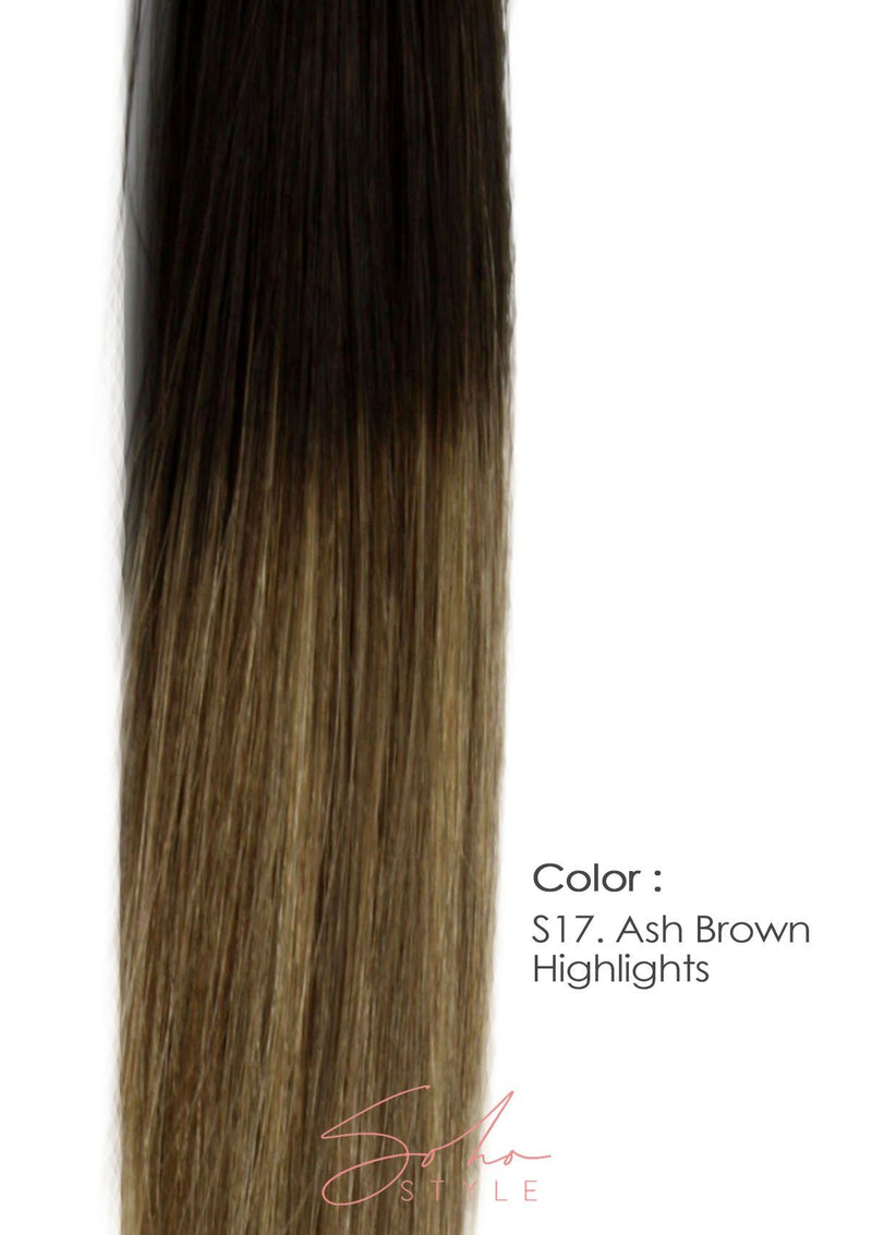 "Root Two Tone Aura - Invisible Wired (Halo) Remy Hair Extension Available in 14"" & 20"" Set Hair Extension Soho Style"