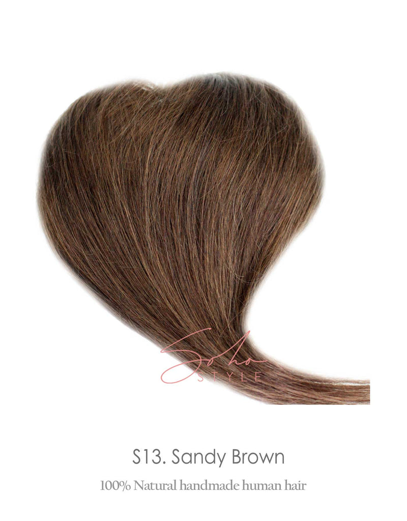 "Lucy -13"" Human Hair Volume Topper Extension Hair Extension Soho Style"
