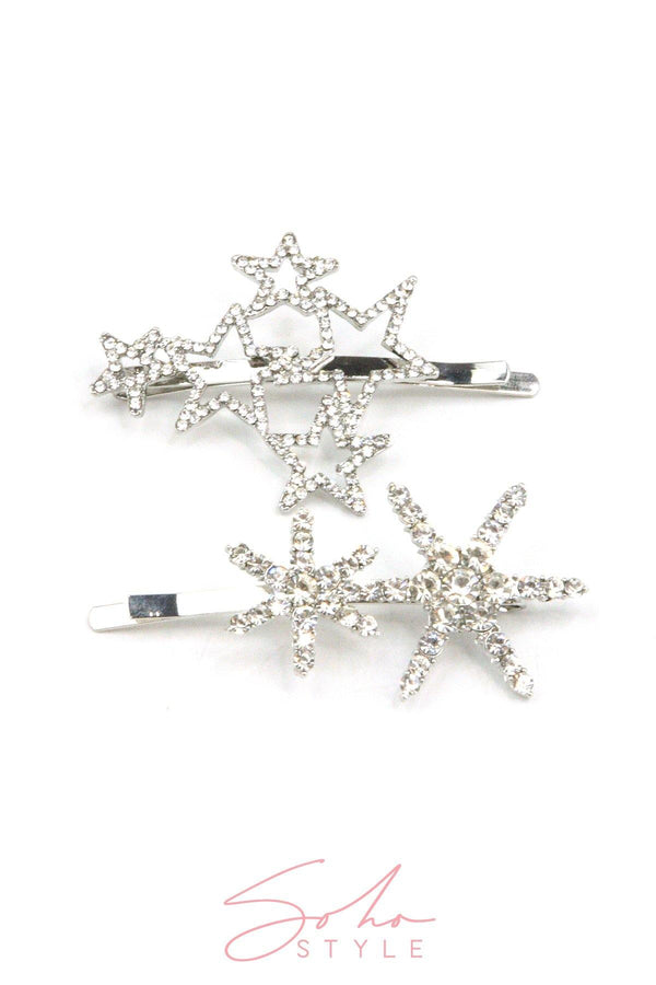 Black Friday - Crystal Constellations Bobby Pin & Twin Stars Crystal Bobby Pin Set Special