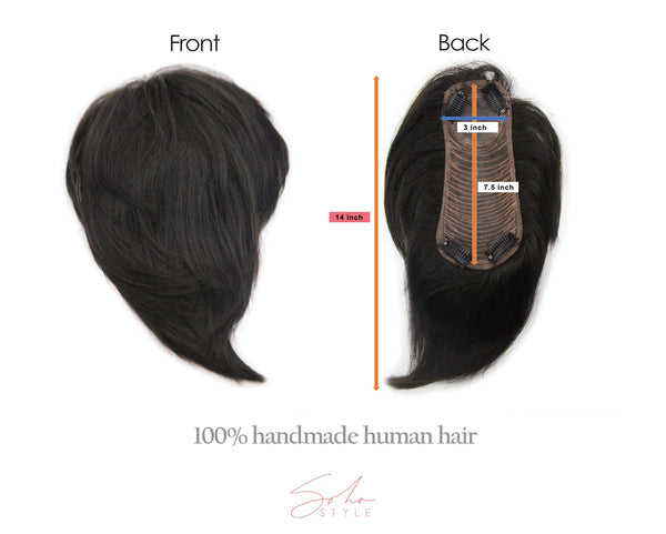 "Sena - 14"" Clip-In Human Hair Top Piece Extension Hair Extension Soho Style"