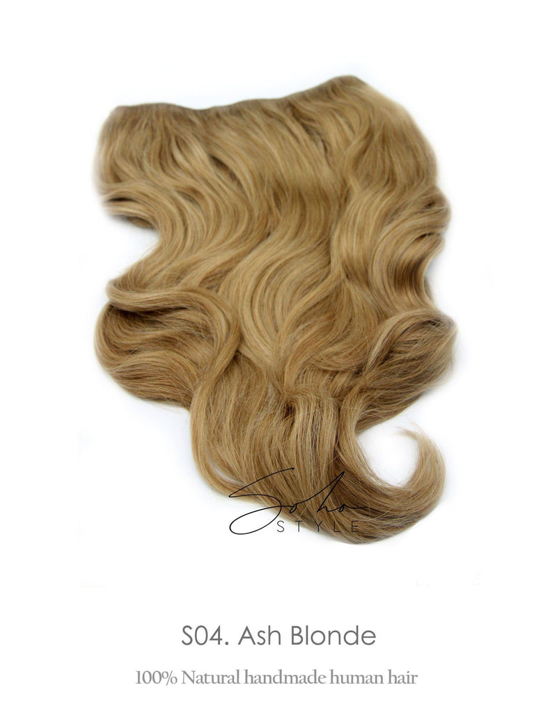 "Seven Sisters 15"" & 18"" & 22"" Clip-In Human Hair Extensions Single Piece Hair Extension Soho Style"