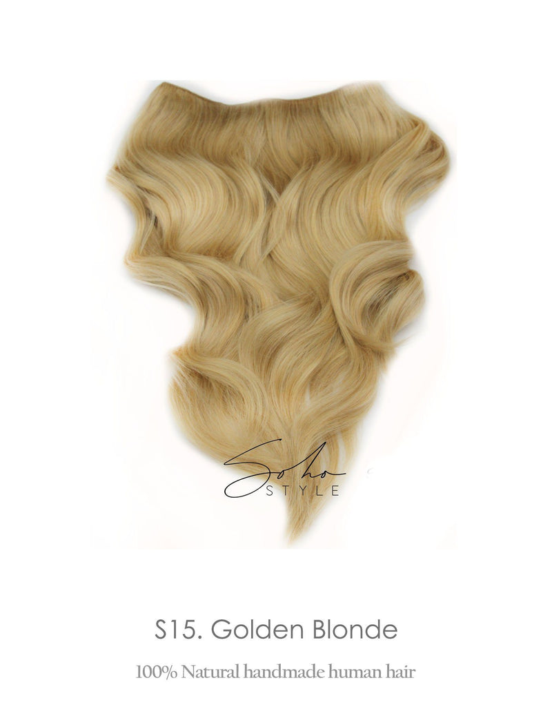 "Seven Sisters 15"" & 18"" & 22"" Clip-In Human Hair Extensions Set Hair Extension Soho Style"