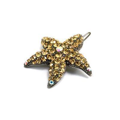 Soho Style Barrette Amber Small Starfish Barrette