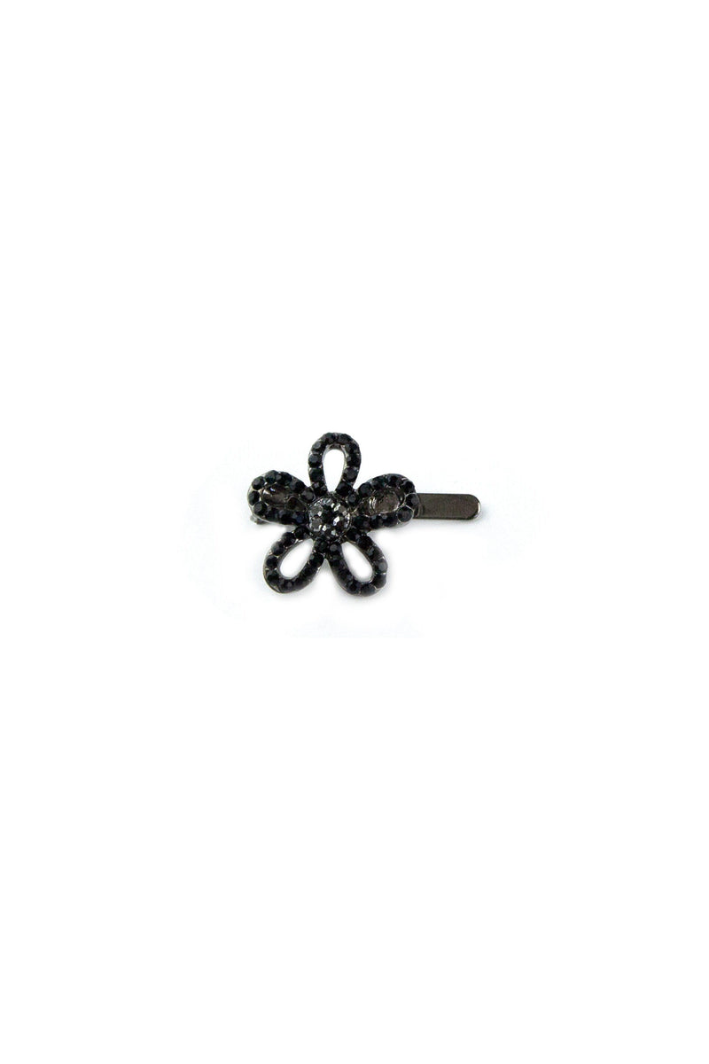 Soho Style Barrette Black Mini Flower Barrette