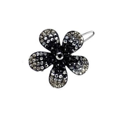 Soho Style Barrette Black / Single Ombre Crystal Flower Barrette