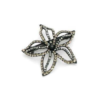 Soho Style Barrette Black Starfish Flower Barrette