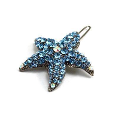 Soho Style Barrette Blue Small Starfish Barrette