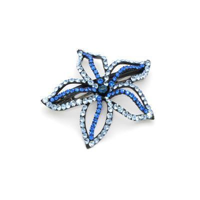 Soho Style Barrette Blue Starfish Flower Barrette