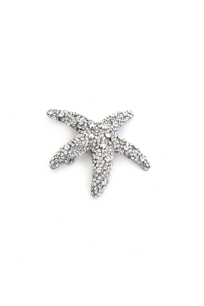Crystal Dipped Starfish Barrette - Soho Style
