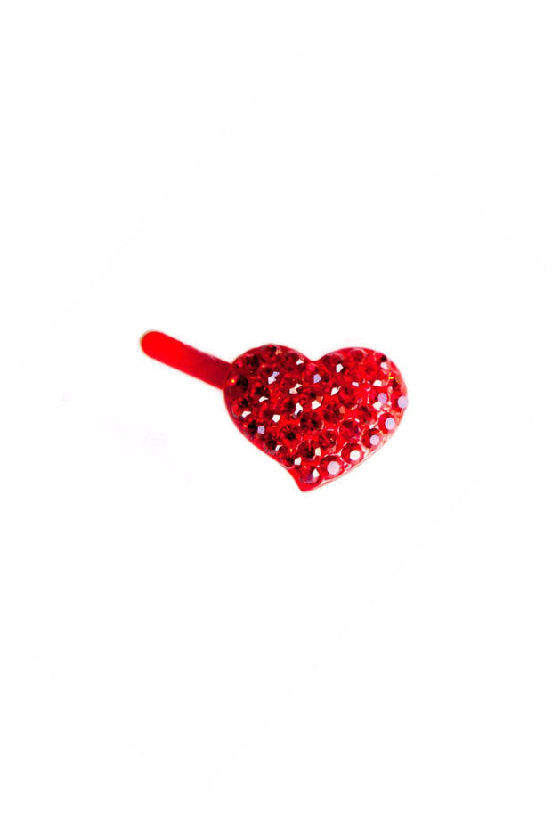 Soho Style Barrette Clear Mini Heart Barrette