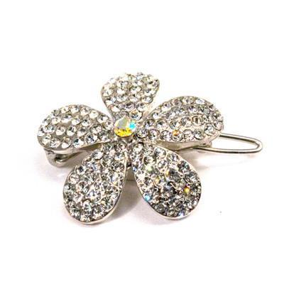 Soho Style Barrette Clear / Single Ombre Crystal Flower Barrette