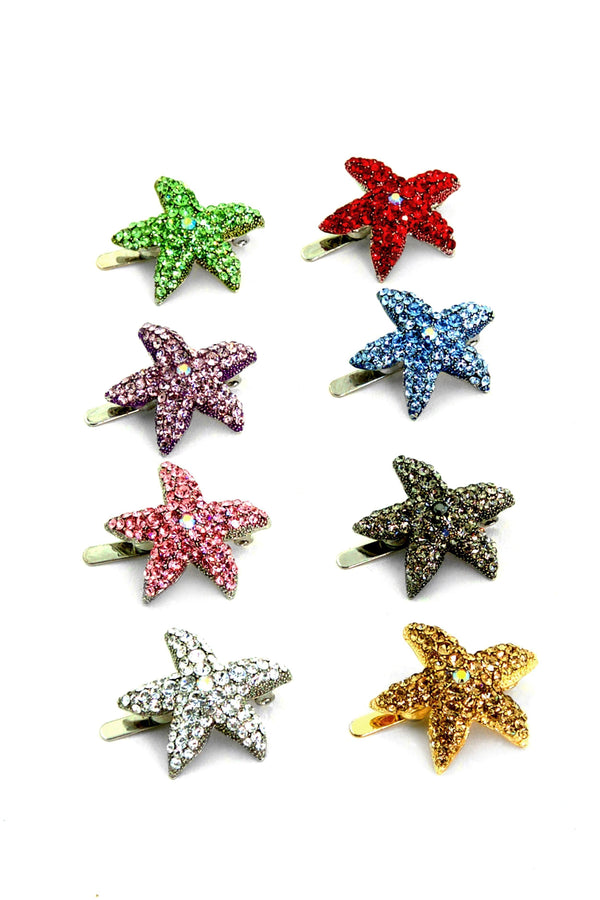 SUMMER STARFISH MAGNETIC BARRETTE SET