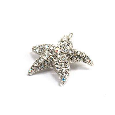 Soho Style Barrette Clear Small Starfish Barrette