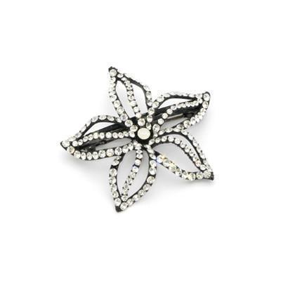 Soho Style Barrette Clear Starfish Flower Barrette
