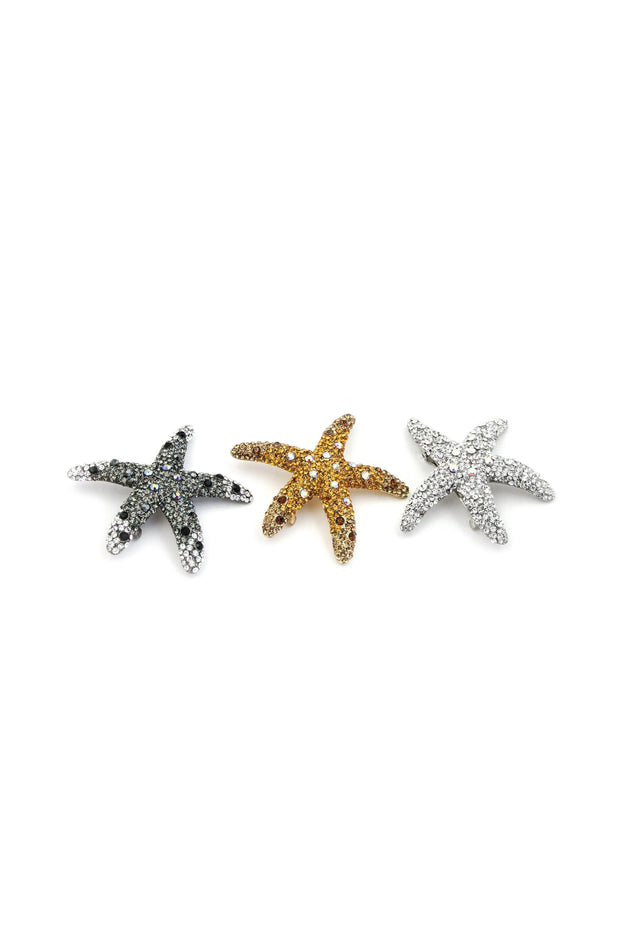 Crystal Dipped Starfish Barrette -  Barrette, Soho Style