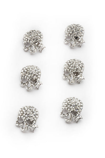 Crystal Skeleton Magnetic Barrette (Set of 6) -  Barrette, Soho Style