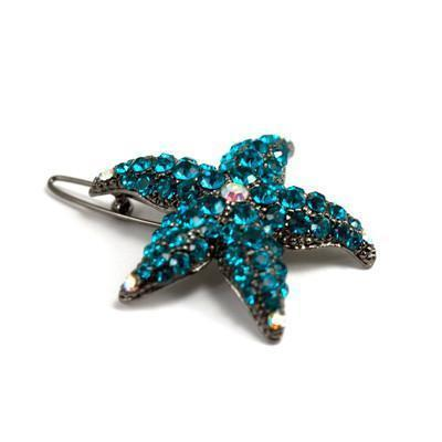Soho Style Barrette Emerald Small Starfish Barrette