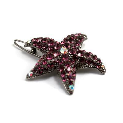 Soho Style Barrette Fuschia Small Starfish Barrette