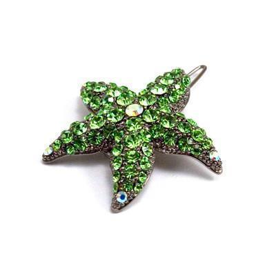 Soho Style Barrette Green Small Starfish Barrette