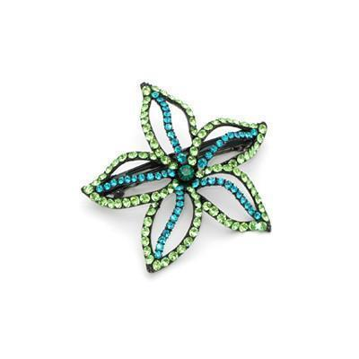 Soho Style Barrette Green Starfish Flower Barrette