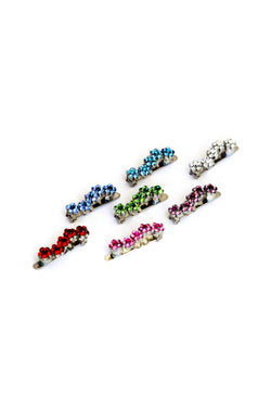 Soho Style Barrette Mini Daisy Crystal Magnetic Barrette (Sold as a pair)