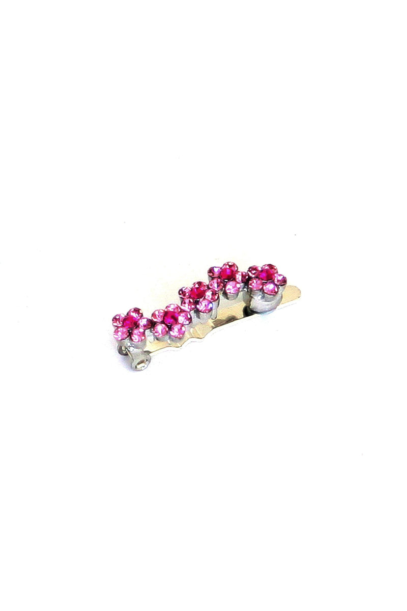 Mini Daisy Crystal Magnetic Barrette (Sold as a pair) - Soho Style