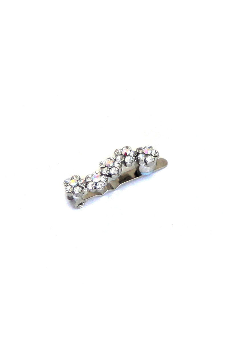 Mini Daisy Crystal Magnetic Barrette (Sold as a pair) Sale Soho Style