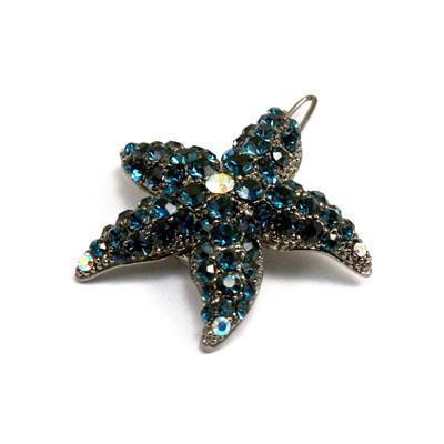 Soho Style Barrette Navy Blue Small Starfish Barrette
