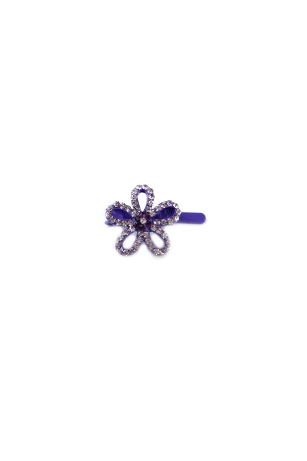 Soho Style Barrette Purple Mini Flower Barrette
